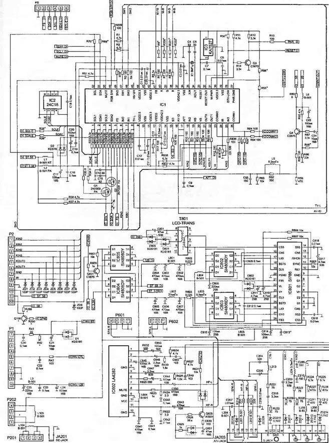 электрическая схема шасси
