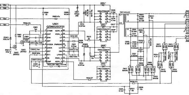 схема инвертора фирмы TDK